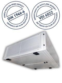THERMO-TEC Umluftkühlgeräte gemäß VDI 6022 und DIN 1946-4 SOFFIO HYG